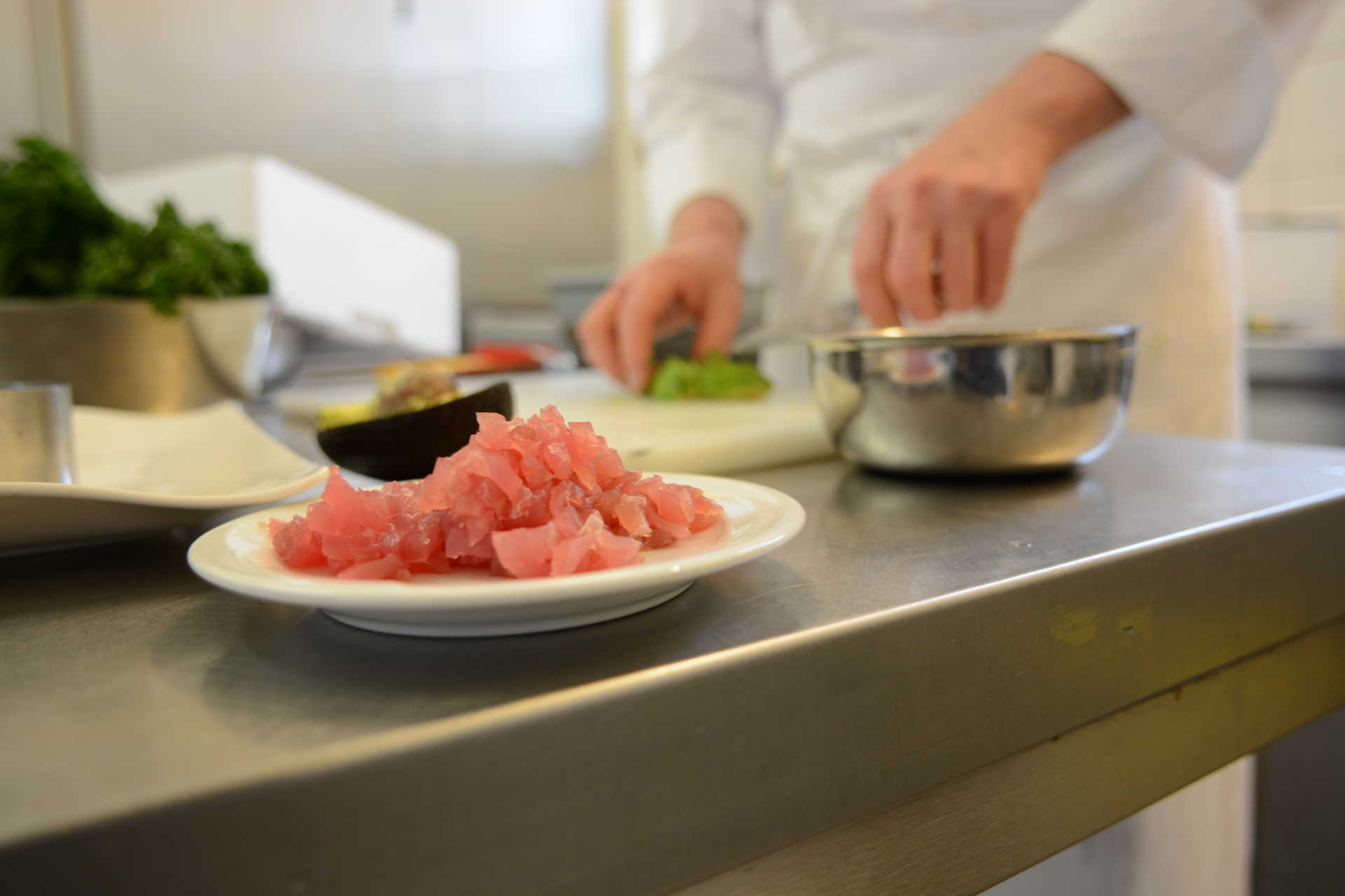 Fisch-Zubereitung in der Küche