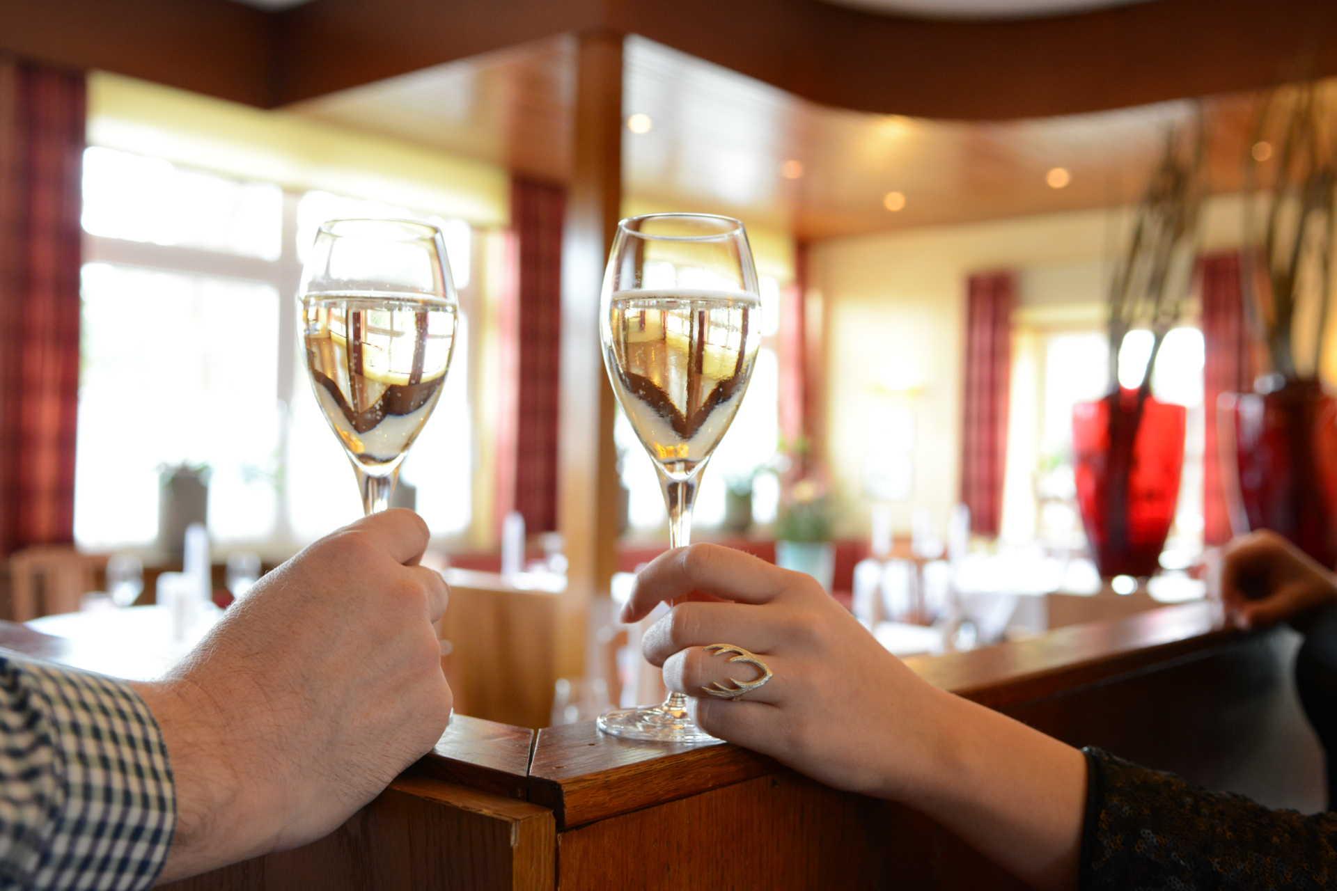 Ausgwählte Weine im Restaurant Beesten